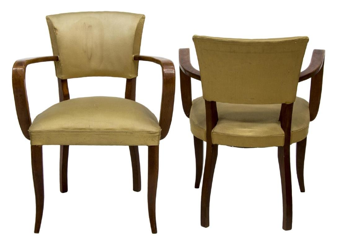 (4) FRENCH MID-CENTURY OPEN ARMCHAIRS, C. 1950 - 2