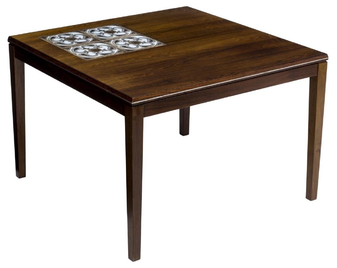 DANISH MID-CENTURY ROSEWOOD TILE TOP CENTER TABLE