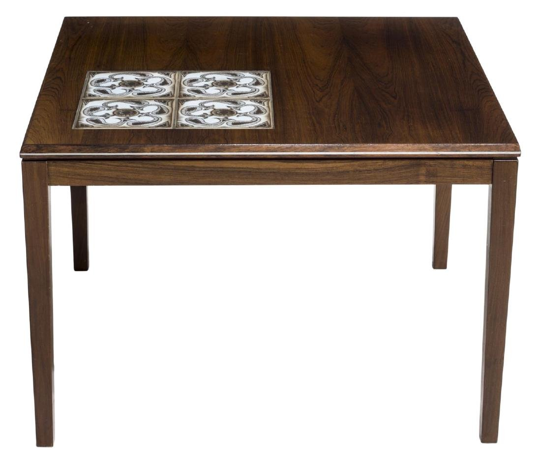 DANISH MID-CENTURY ROSEWOOD TILE TOP CENTER TABLE - 2