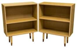 (2) DANISH MID-CENTURY MODERN OAK BOOKCASES