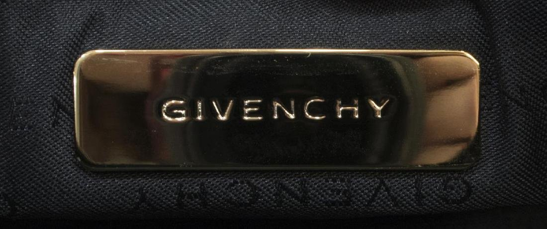 GIVENCHY BLACK MONOGRAM CANVAS & LEATHER HAND BAG - 5