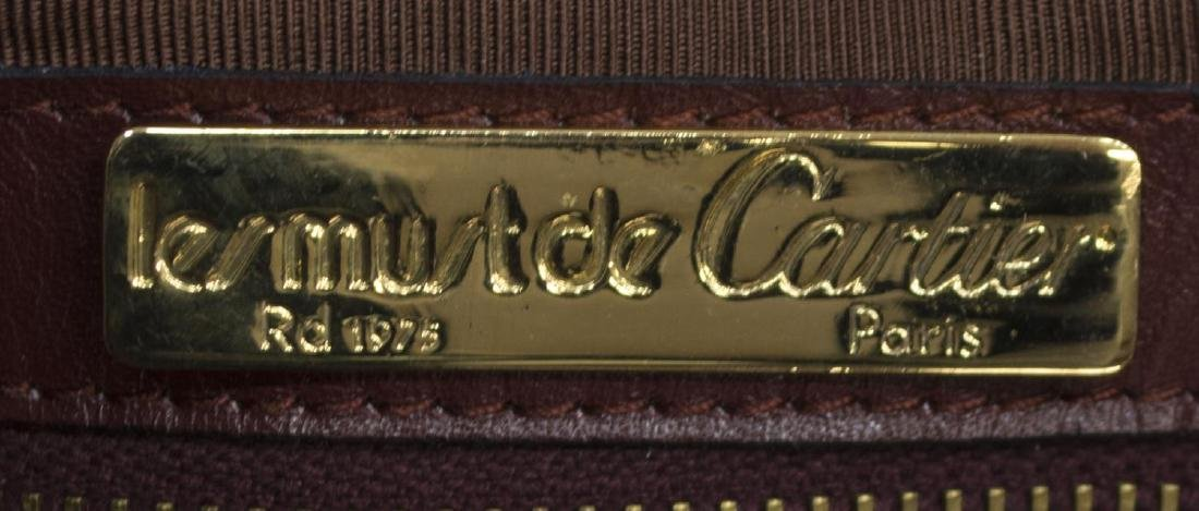 CARTIER BOSTON BURGUNDY SUEDE & LEATHER DUFFLE BAG - 4