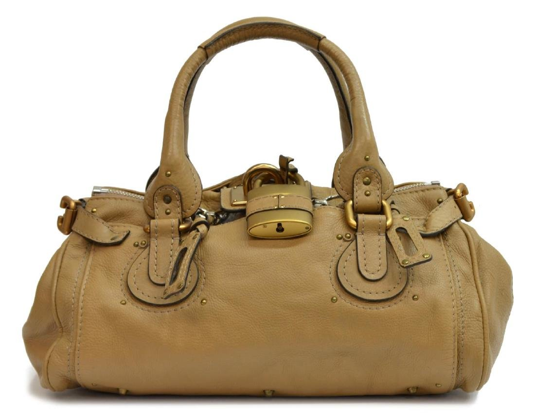 CHLOE 'PADDINGTON MM' GRAINED LEATHER HANDBAG - 2
