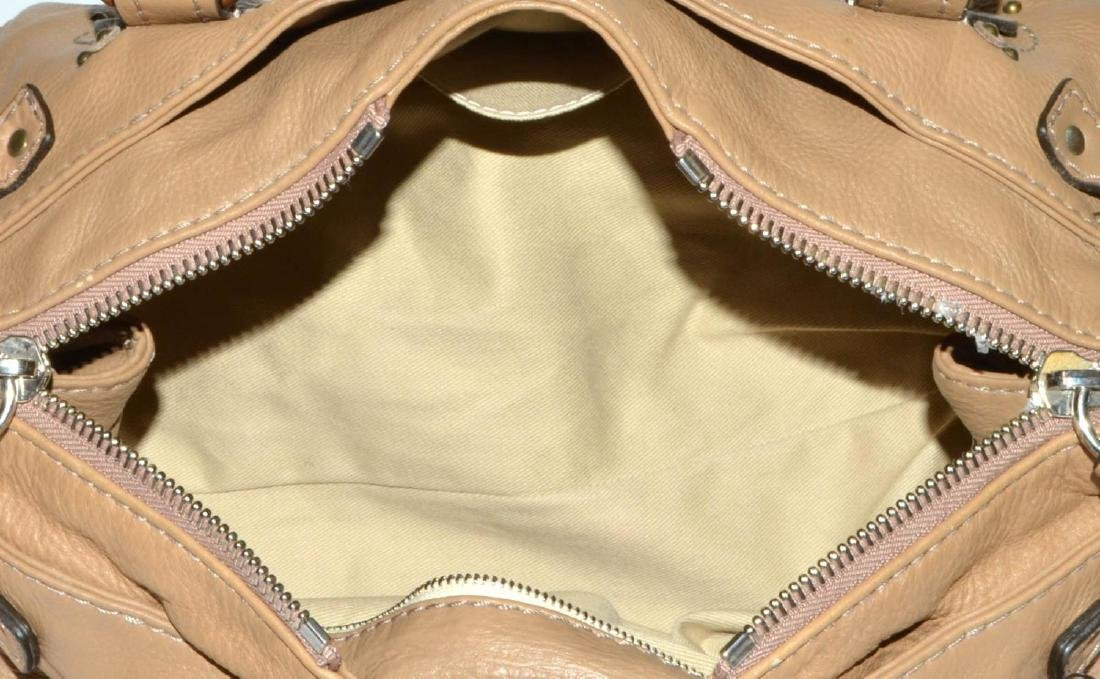 CHLOE 'PADDINGTON MM' GRAINED LEATHER HANDBAG - 4