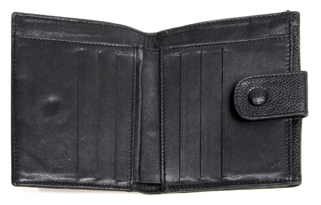 CHANEL BLACK CAVIAR LEATHER BIFOLD SQUARE WALLET - 4