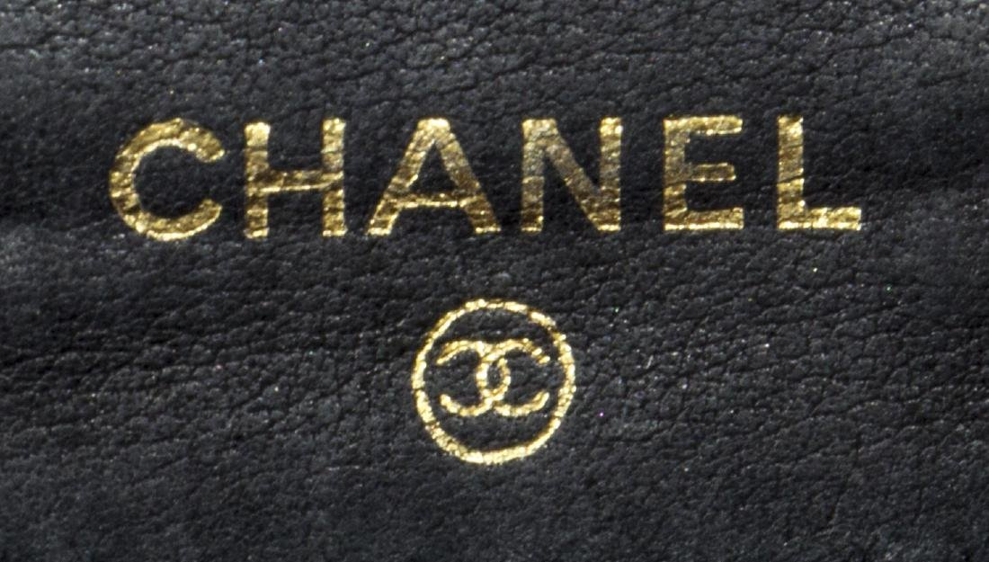CHANEL BLACK CAVIAR LEATHER BIFOLD SQUARE WALLET - 5