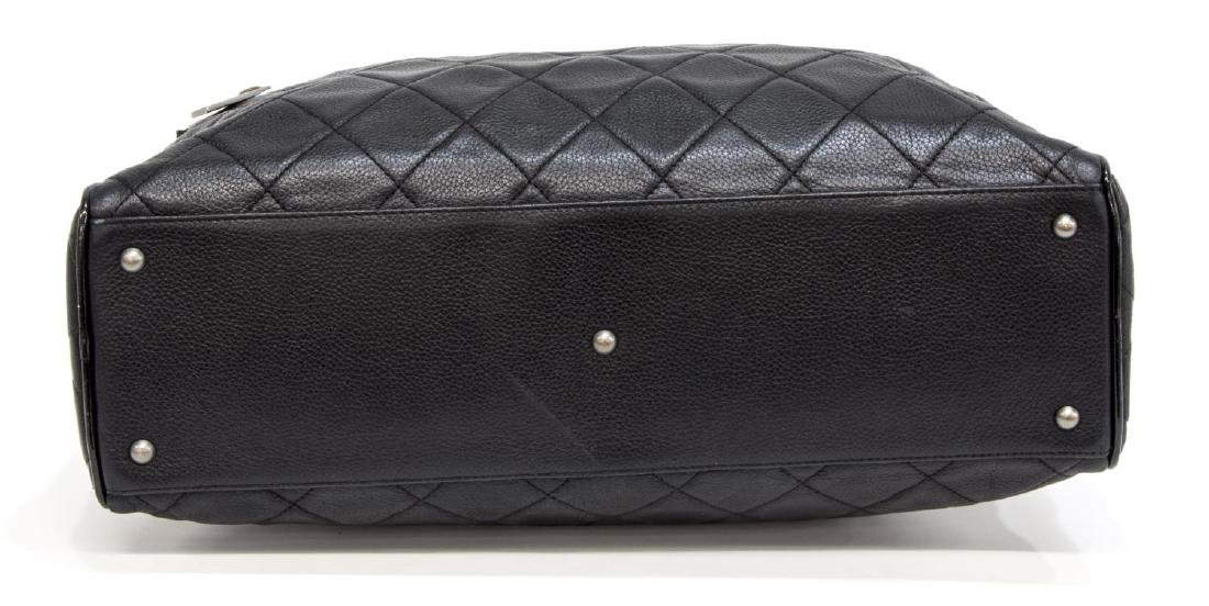 CHANEL BLACK QUILTED CAVIAR LEATHER 'BOWLING' BAG - 3