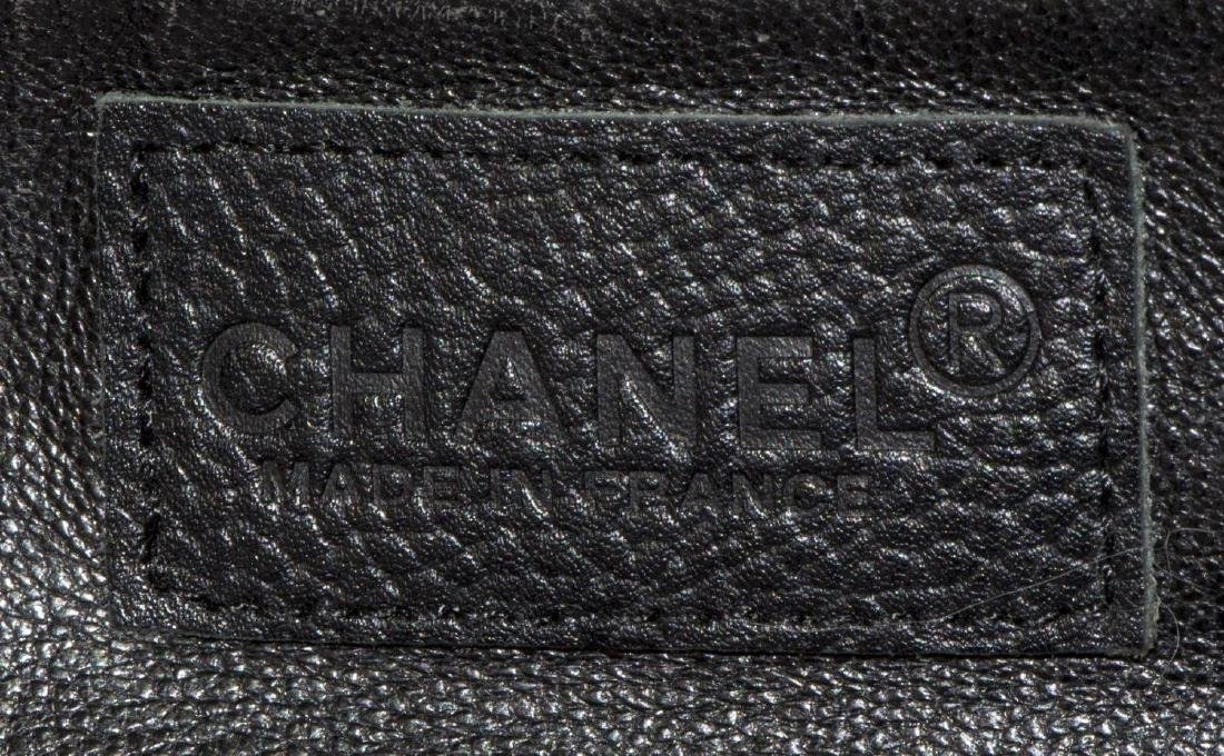CHANEL BLACK QUILTED CAVIAR LEATHER 'BOWLING' BAG - 5