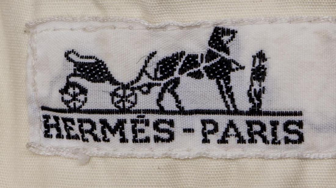 HERMES CANVAS ORANGE & GREEN TROPICAL BAG - 5