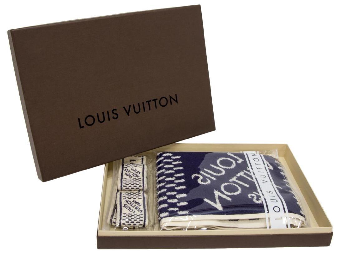 (4) LOUIS VUITTON GYM SET, TOWEL & SPORT BANDS