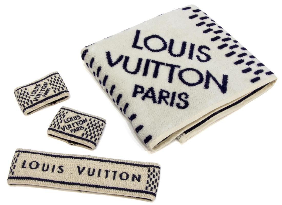 (4) LOUIS VUITTON GYM SET, TOWEL & SPORT BANDS - 2