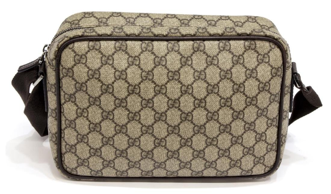 GUCCI BEIGE MONOGRAM CANVAS MESSENGER BAG - 2