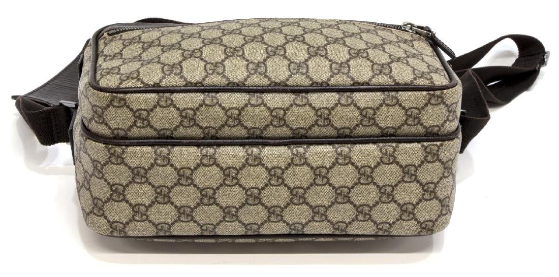 GUCCI BEIGE MONOGRAM CANVAS MESSENGER BAG - 3