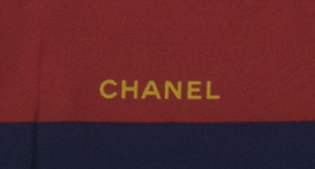 "CHANEL SILK SCARF, INTERLOCKING ""CC"" DESIGN - 3"