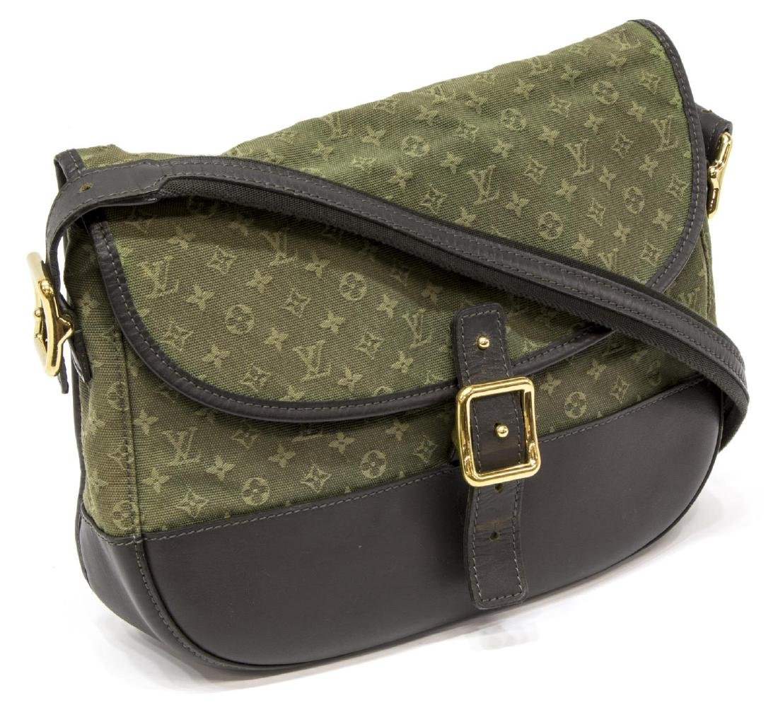 LOUIS VUITTON 'MARJORIE' GREEN MONOGRAM CANVAS BAG