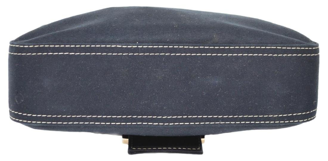 FENDI NAVY CANVAS SINGLE STRAP HANDBAG - 3