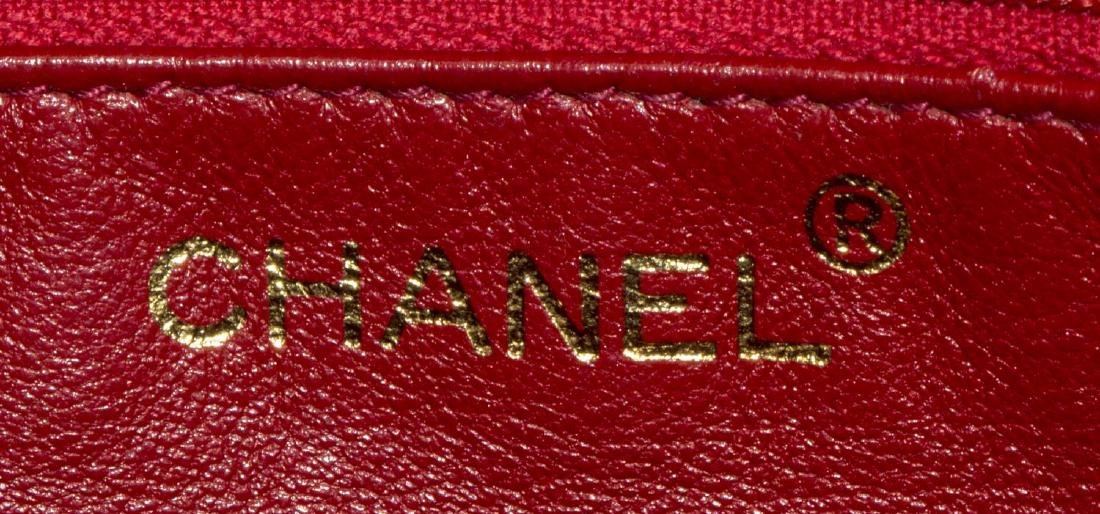 VINTAGE CHANEL RED QUILTED LEATHER TASSEL BAG - 5