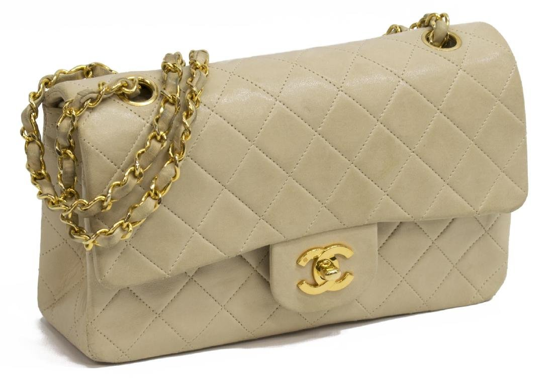CHANEL QUILTED CLASSIC DOUBLE FLAP SHOULDER BAG