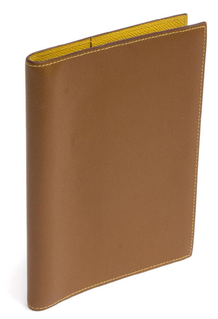 HERMES BROWN & YELLOW LEATHER AGENDA COVER
