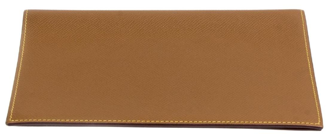 HERMES BROWN & YELLOW LEATHER AGENDA COVER - 3