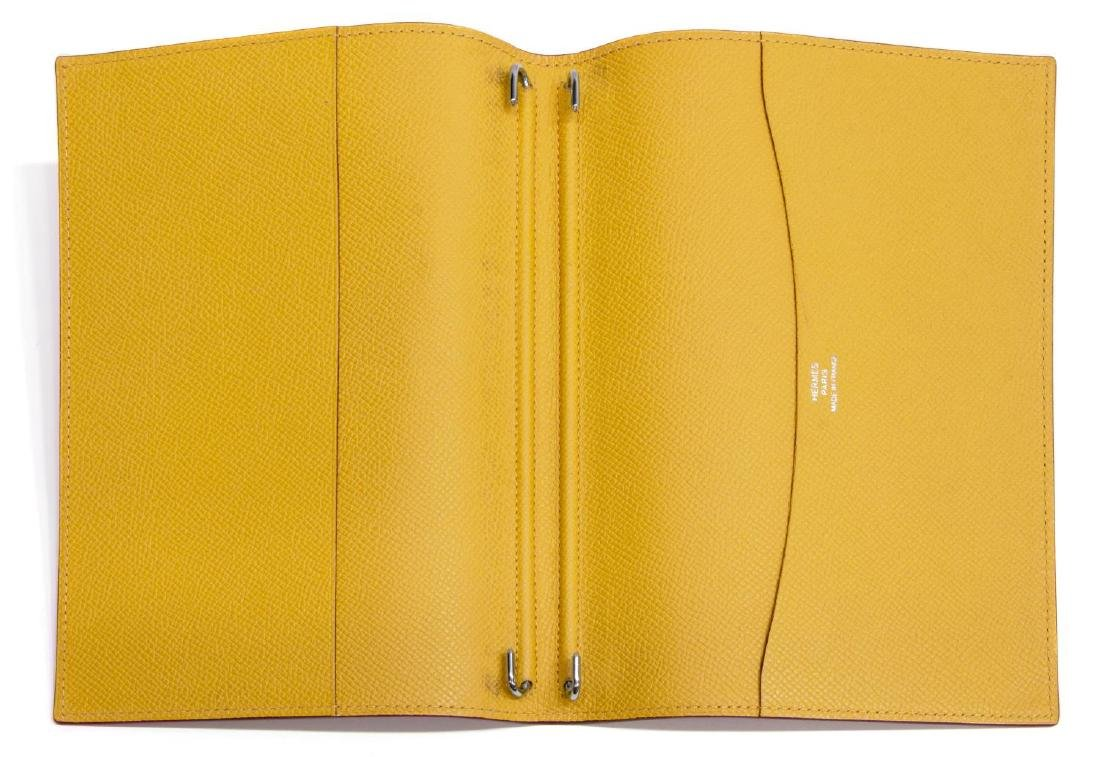HERMES BROWN & YELLOW LEATHER AGENDA COVER - 4