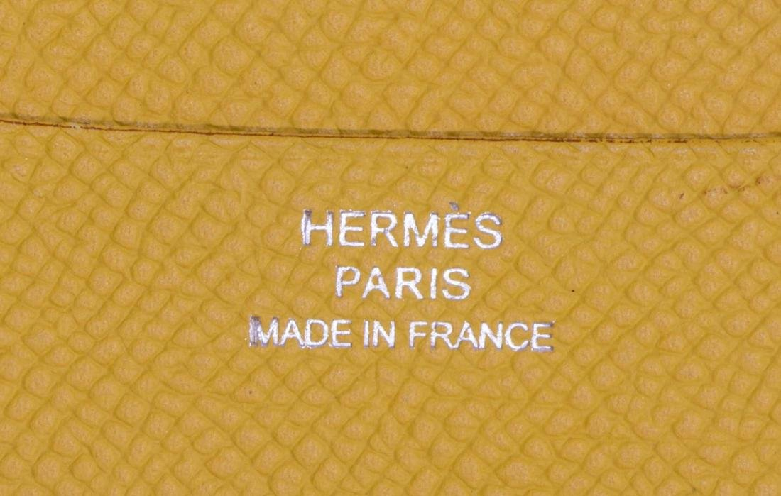 HERMES BROWN & YELLOW LEATHER AGENDA COVER - 5