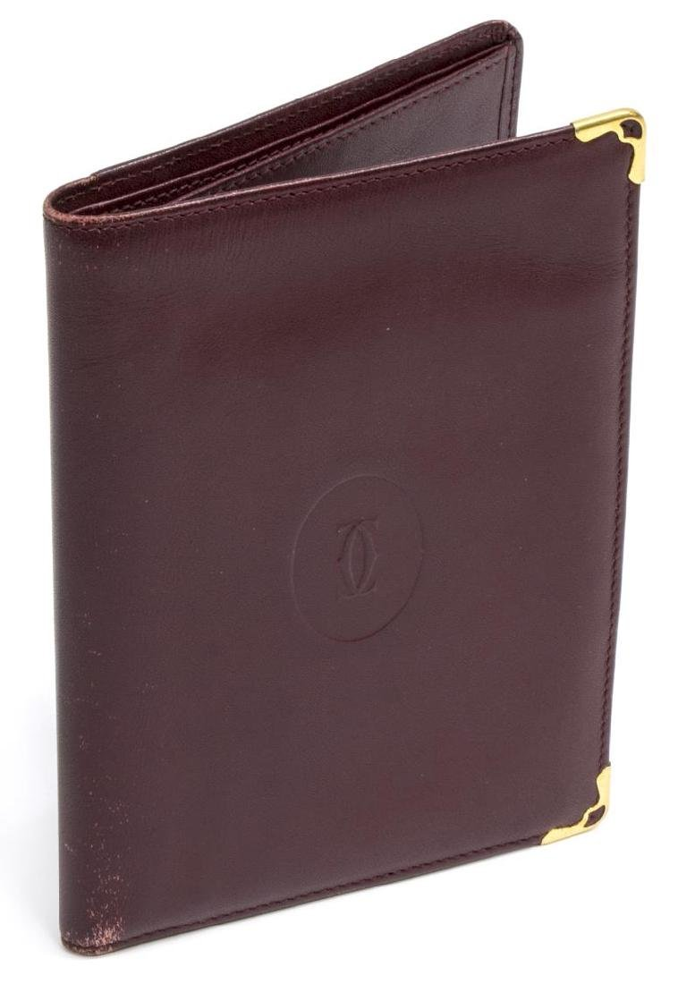 CARTIER BURGUNDY LEATHER PASSPORT COVER