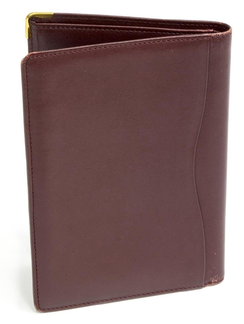 CARTIER BURGUNDY LEATHER PASSPORT COVER - 2