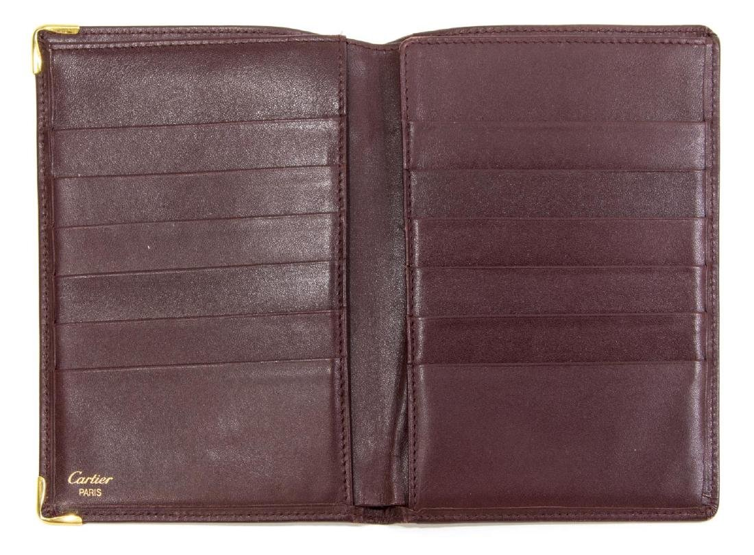 CARTIER BURGUNDY LEATHER PASSPORT COVER - 4