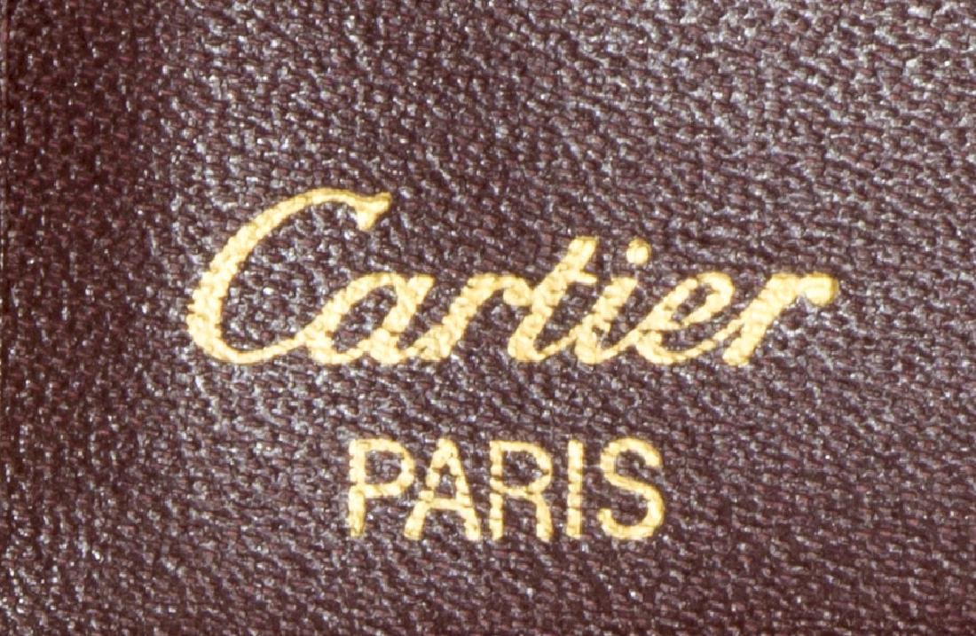 CARTIER BURGUNDY LEATHER PASSPORT COVER - 5