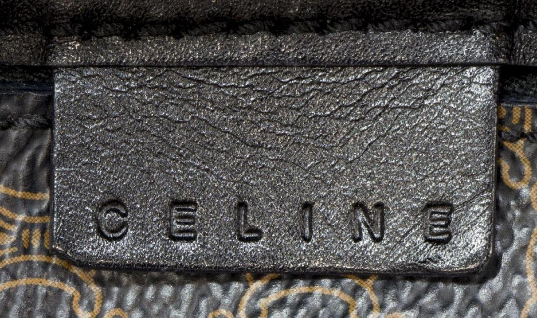 CELINE BLACK MACADAM MONOGRAM CANVAS BOWLER BAG - 5