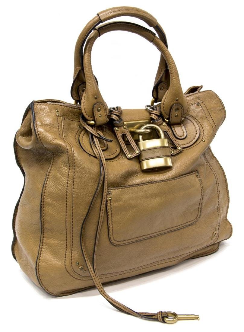 CHLOE 'PADDINGTON' BROWN LEATHER HANDBAG