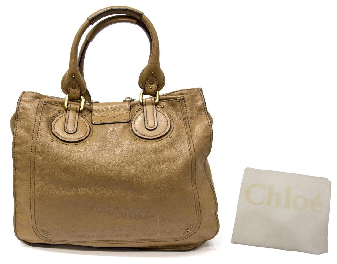 CHLOE 'PADDINGTON' BROWN LEATHER HANDBAG - 2