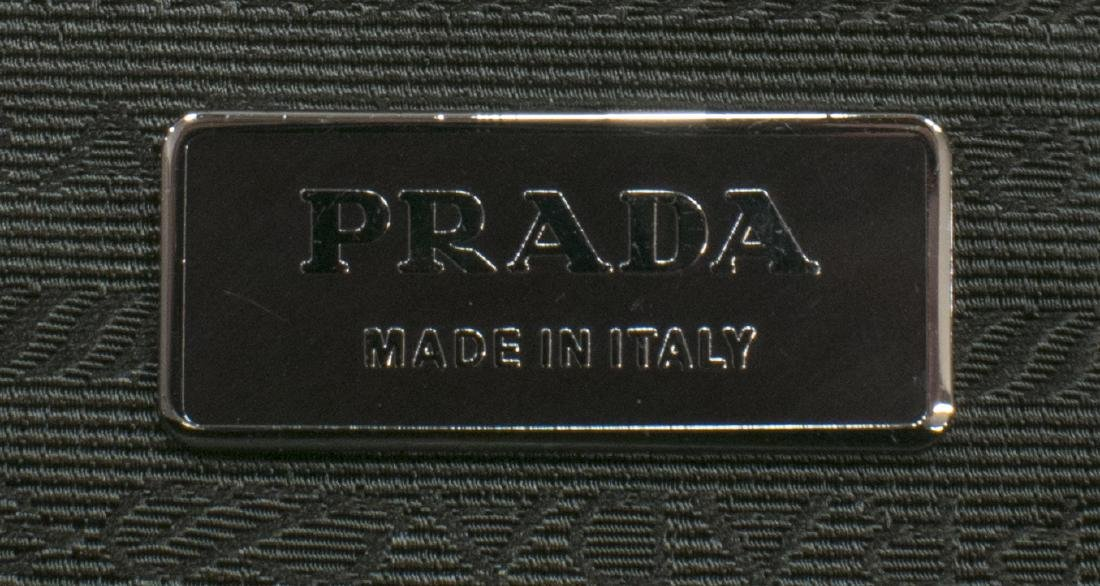 PRADA BIEGE PATTERNED SUEDE HANDBAG - 5