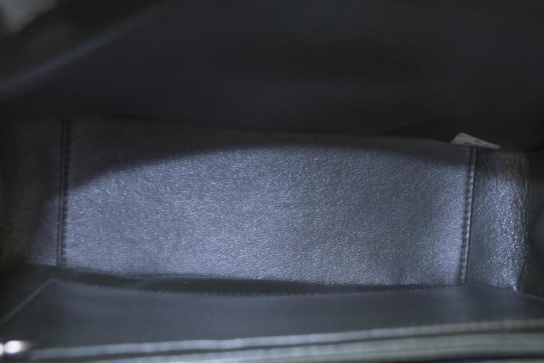 CHANEL GREEN QUILTED SUEDE SHOULDER BAG - 4