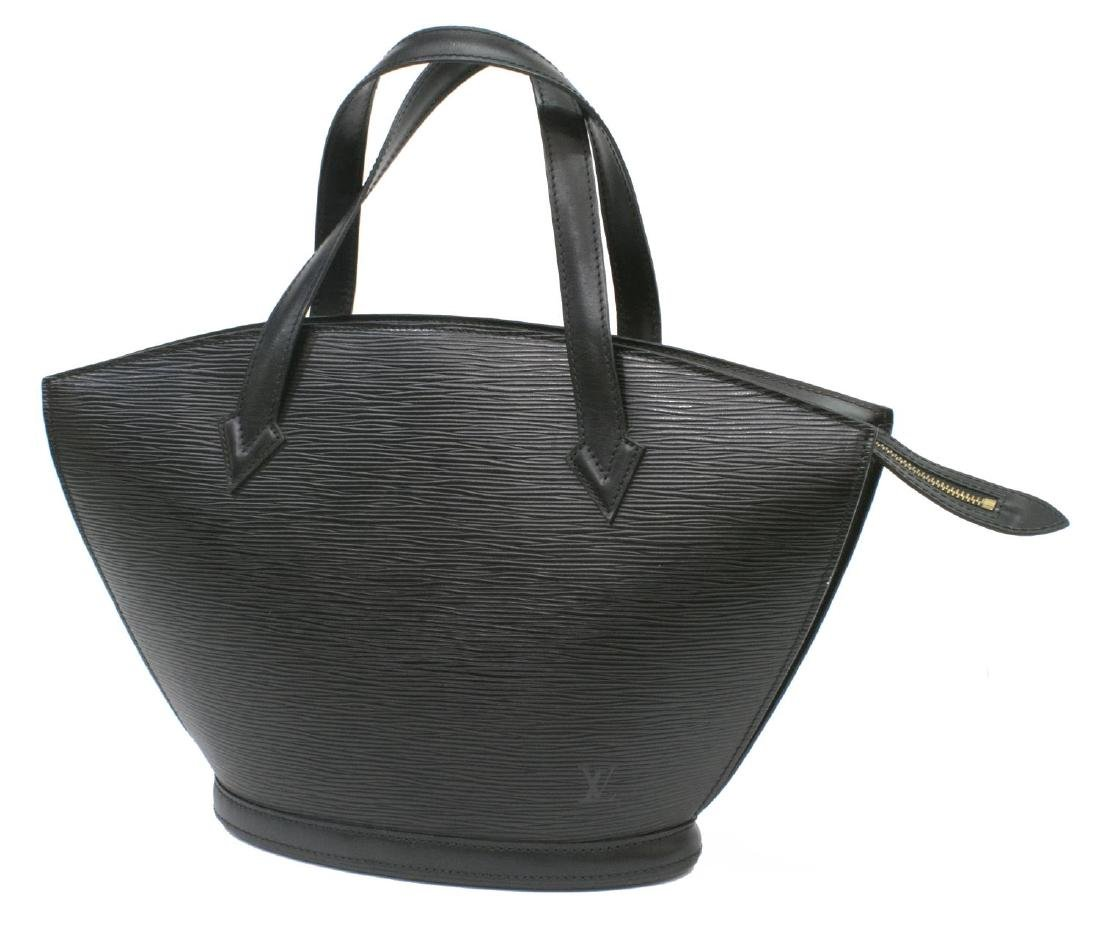 LOUIS VUITTON ST JACQUES BLACK EPI LEATHER HANDBAG