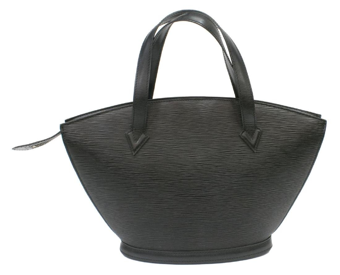 LOUIS VUITTON ST JACQUES BLACK EPI LEATHER HANDBAG - 2