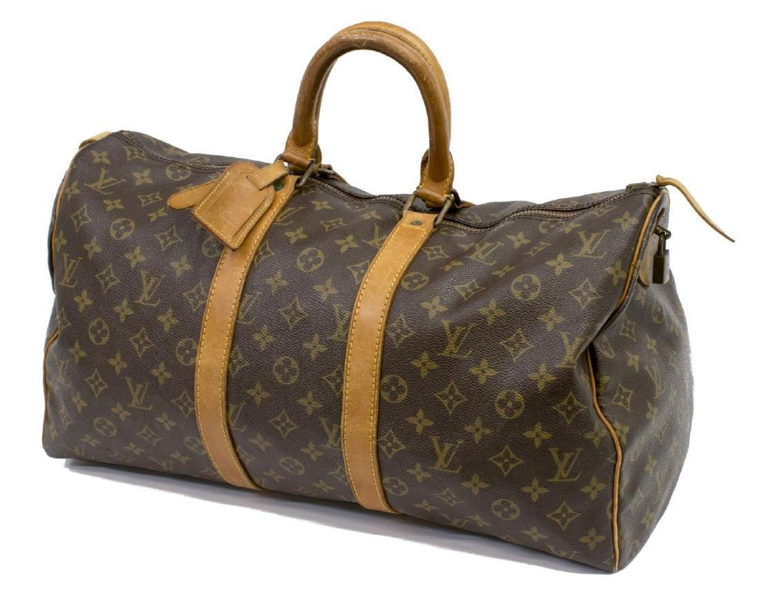 LOUIS VUITTON 'KEEPALL 45' TRAVELING DUFFLE BAG