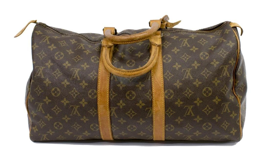 LOUIS VUITTON 'KEEPALL 45' TRAVELING DUFFLE BAG - 2