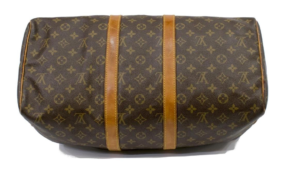 LOUIS VUITTON 'KEEPALL 45' TRAVELING DUFFLE BAG - 3