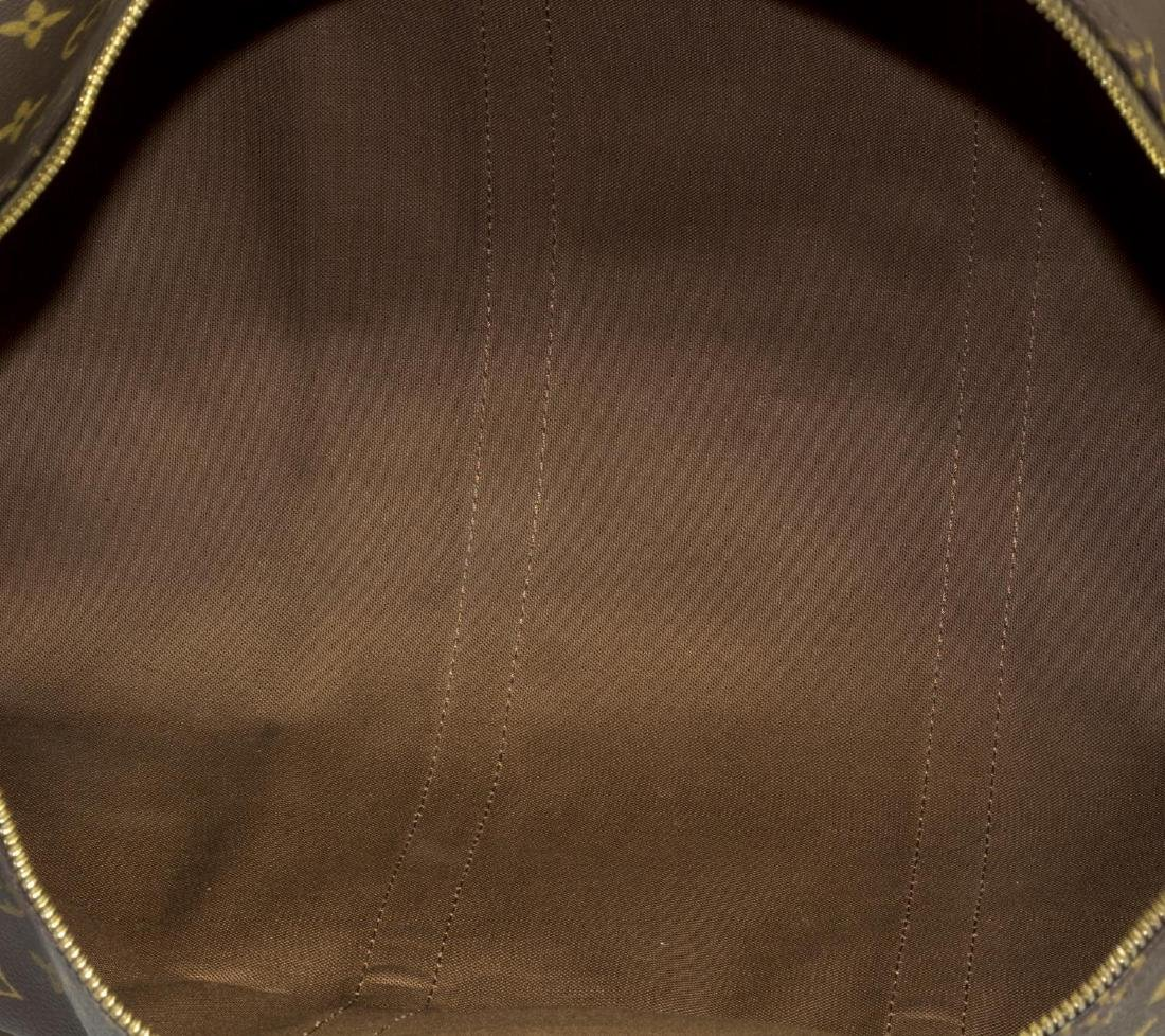 LOUIS VUITTON 'KEEPALL 50' MONOGRAM DUFFLE W/STRAP - 4