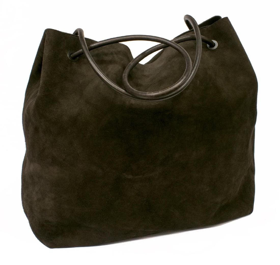 LARGE GUCCI BROWN SUEDE TOTE BAG