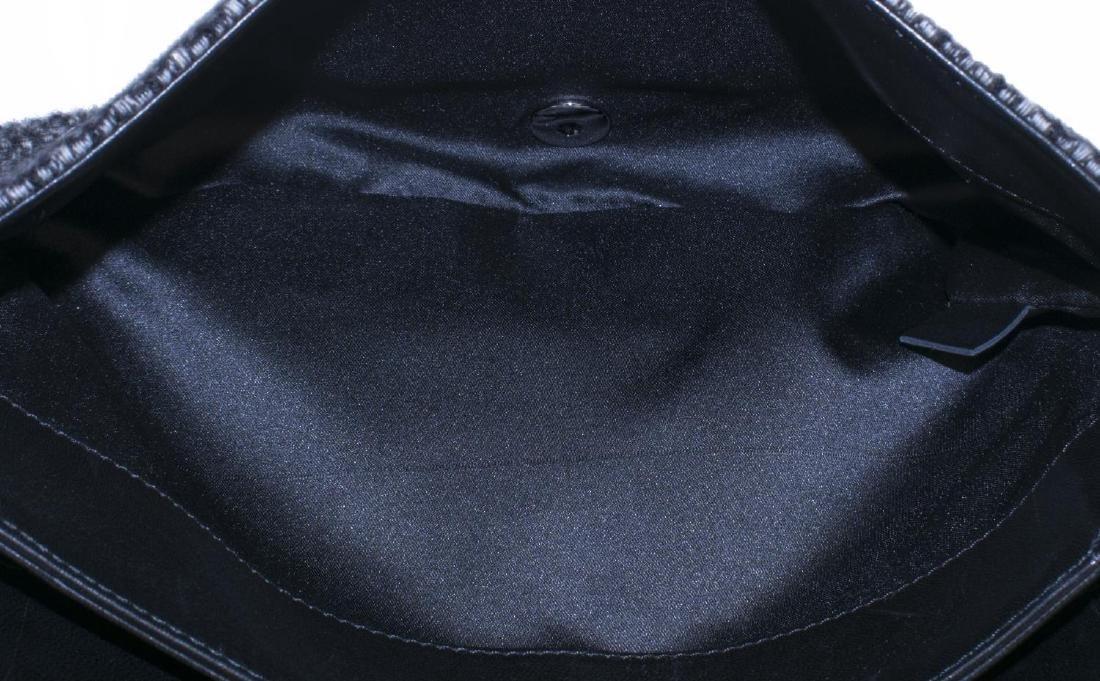 CHANEL TWEED, SEQUIN & LEATHER SHOULDER BAG - 6