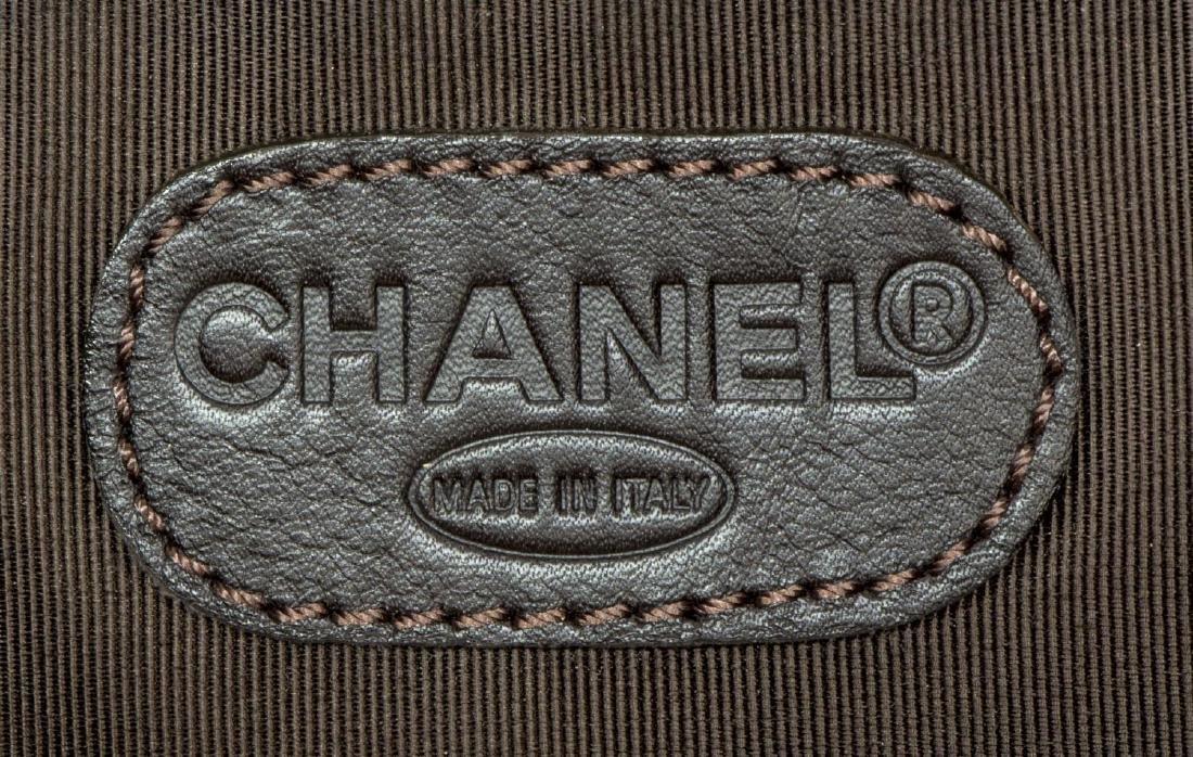 CHANEL BROWN SUEDE FLAP TOP CROSSBODY SHOULDER BAG - 5