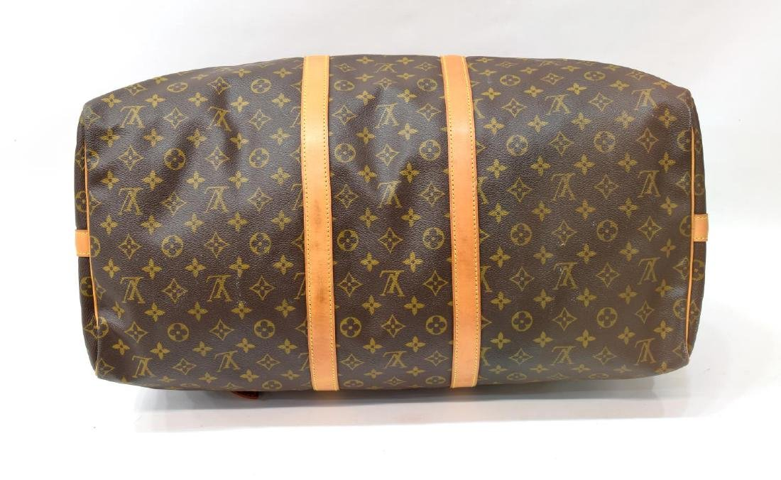 LOUIS VUITTON 'KEEPALL 55' MONOGRAM DUFFLE W/STRAP - 3