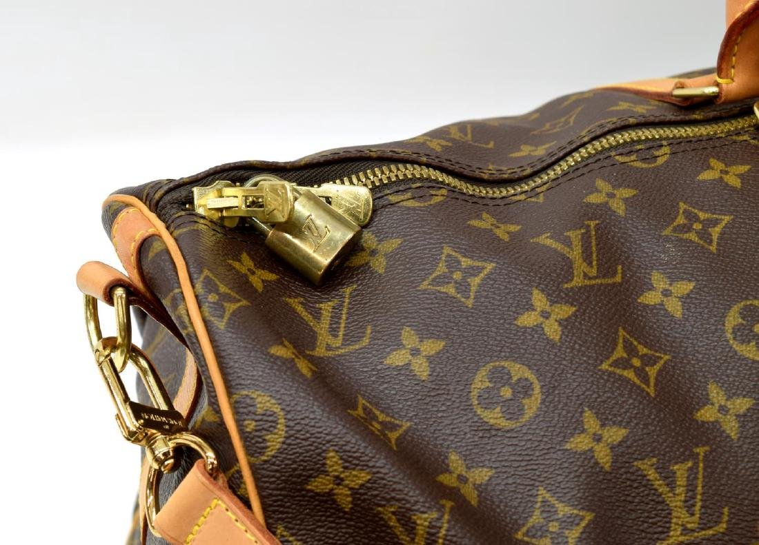 LOUIS VUITTON 'KEEPALL 55' MONOGRAM DUFFLE W/STRAP - 4