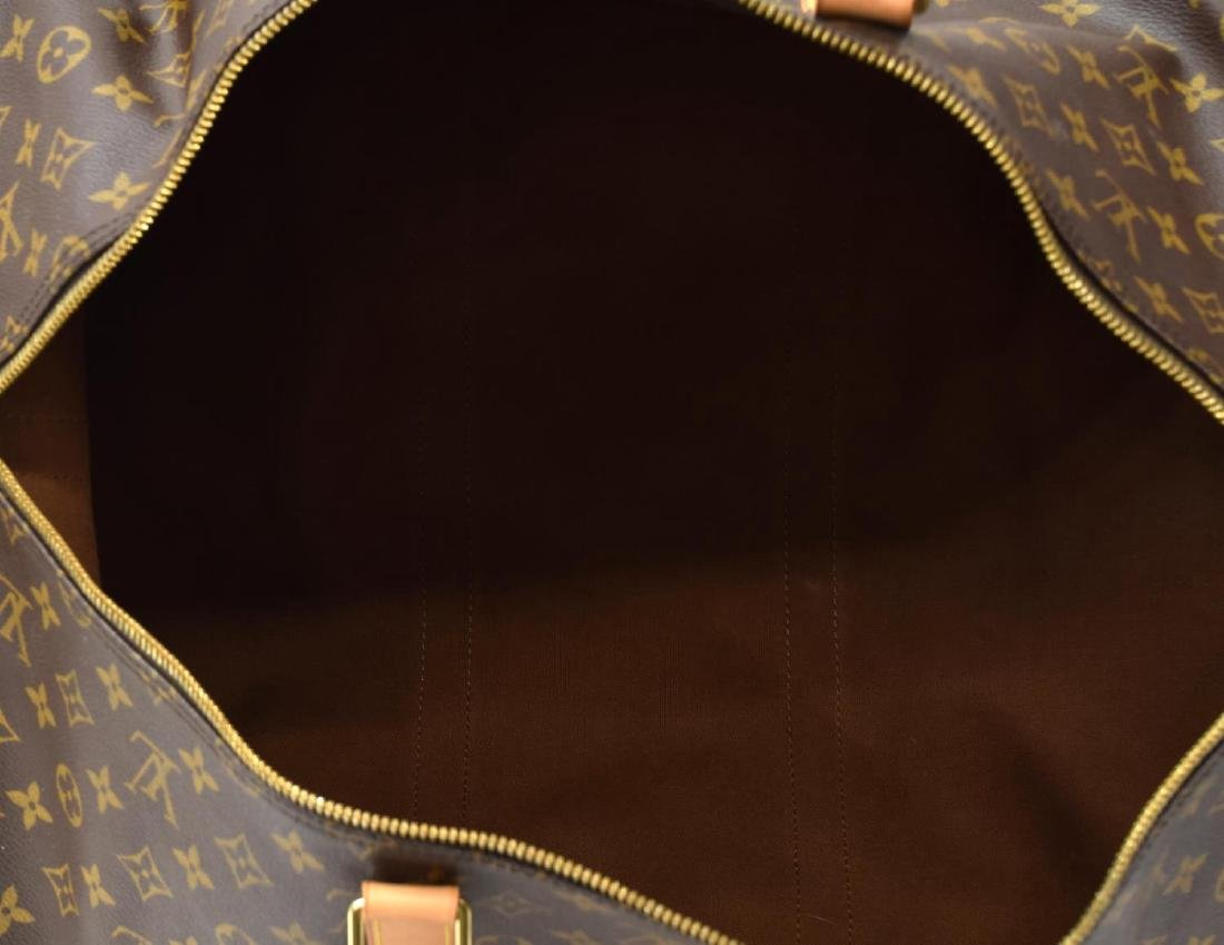 LOUIS VUITTON 'KEEPALL 55' MONOGRAM DUFFLE W/STRAP - 5
