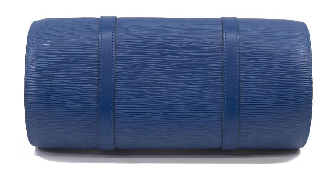 LOUIS VUITTON 'SABLONS' BLUE EPI LEATHER HANDBAG - 3