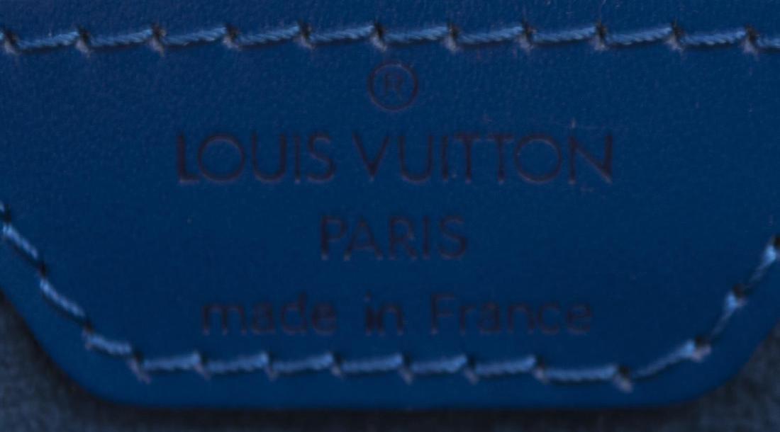 LOUIS VUITTON 'SABLONS' BLUE EPI LEATHER HANDBAG - 4