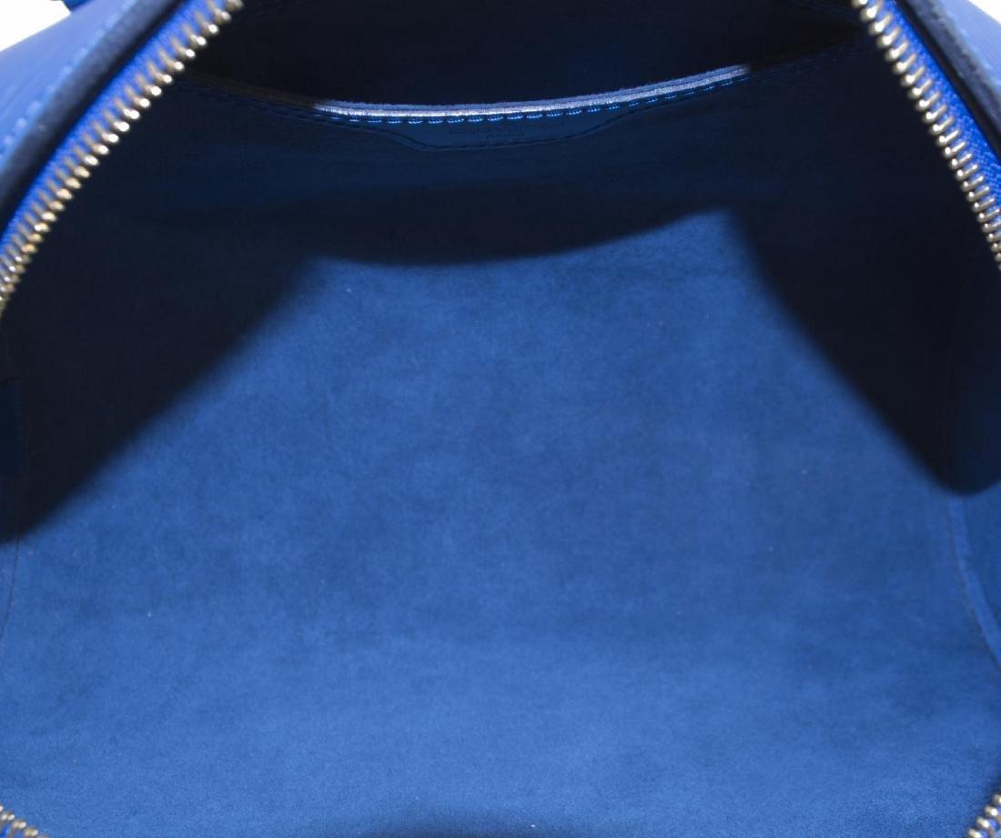 LOUIS VUITTON 'SABLONS' BLUE EPI LEATHER HANDBAG - 5